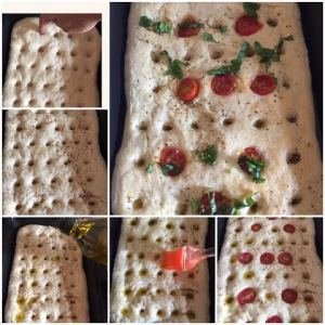 making focaccia at home