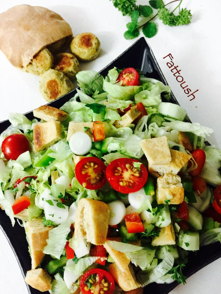 how to make pita chips for fattoush