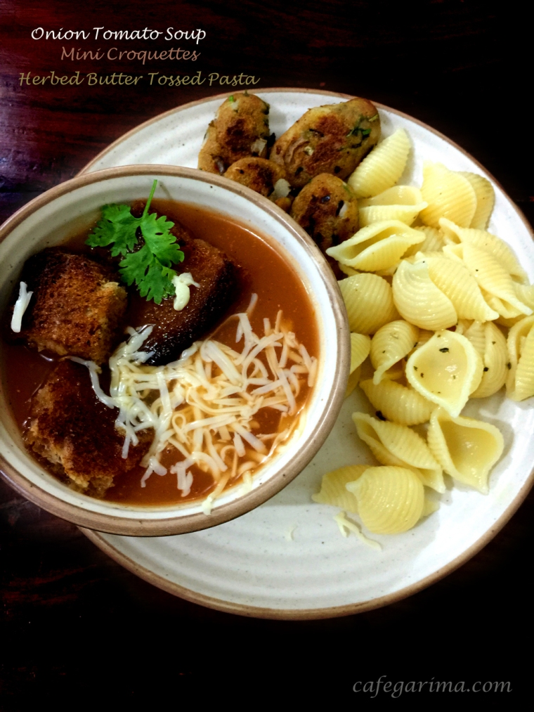 Tomato Soup Croquettes and pasta