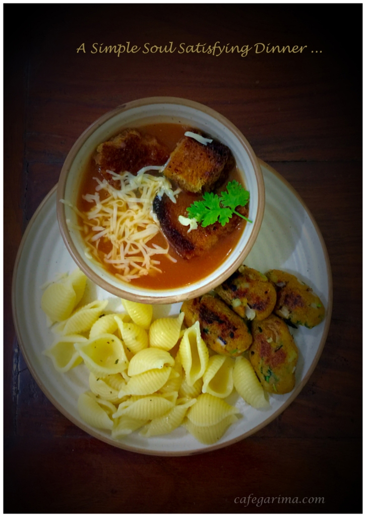 Tomato Soup Potato Croquettes Pasta