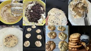 Chocolate chip cookies prep
