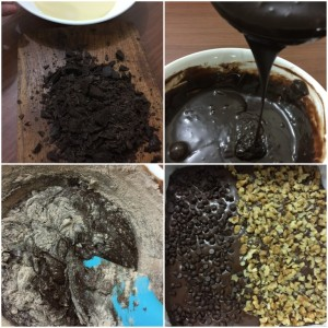 Eggless Brownies prep