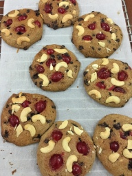 cashew cherry chocolate chip cookies 5