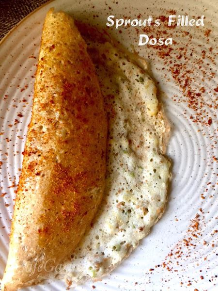 Sprouts Filled Dosa